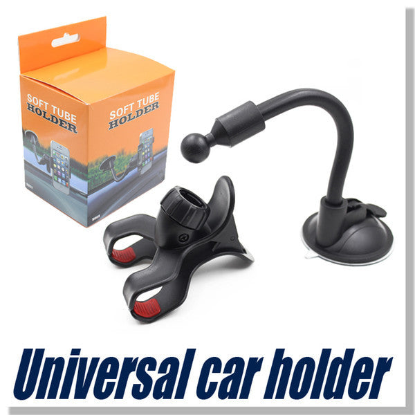 For Iphone 6 Universal Car Holder 360 degree rotation car Holder Cupule Black For Smart Phone PDS GPS Camera Recoder With Retail Box