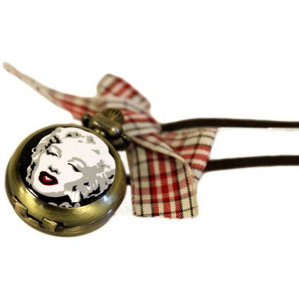 Enamel Marilyn Steampunk Watch Pendant - Shopy Max