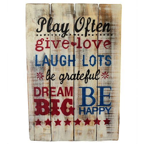 Rough Wooden Sign - Play Often - Shopy Max