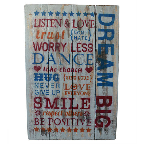 Rough Wooden Sign - Dream Big - Shopy Max