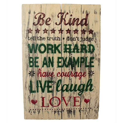 Rough Wooden Sign - Be Kind - Shopy Max