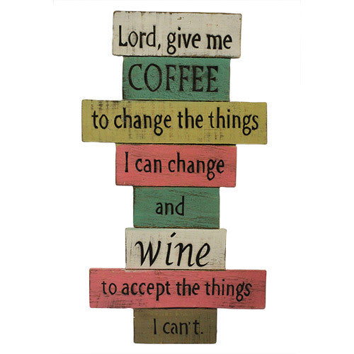 Rough Wooden Sign - Lord Give Me Coffee - Shopy Max