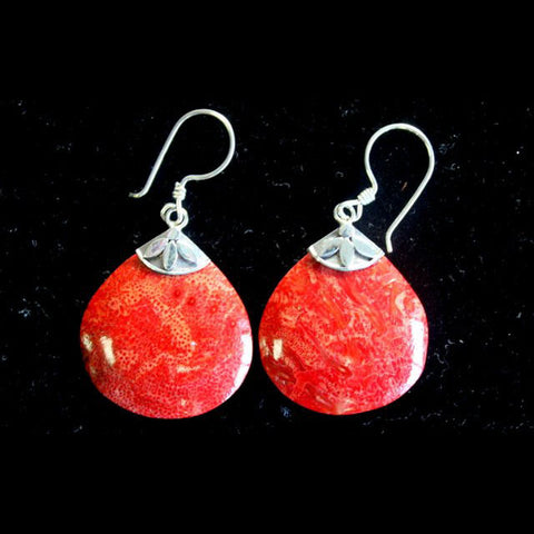 Ball Drops Coral Earrings