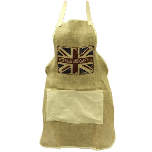 Soft Jute Apron - KEEP CALM - Shopy Max