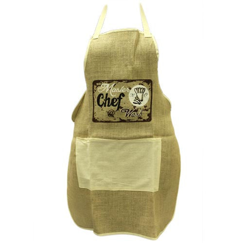 Soft Jute Apron - MASTER CHEF @ WORK - Shopy Max