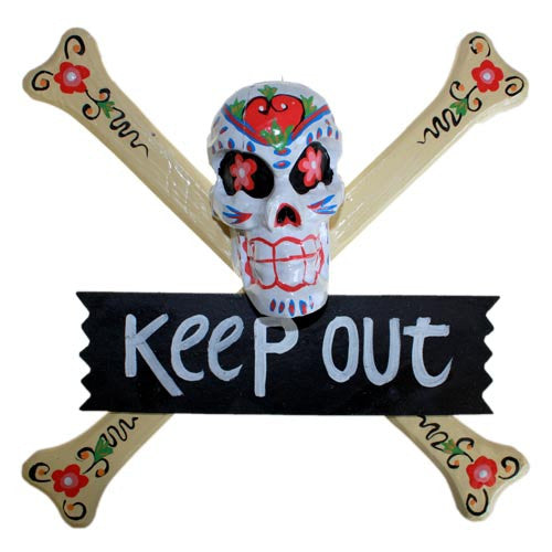 Skulls Warning Sign - KEEP OUT - Shopy Max