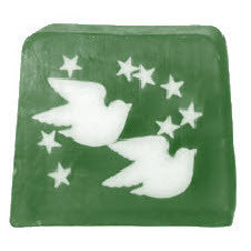 Twin Doves & Stars Soap - 115g Slice