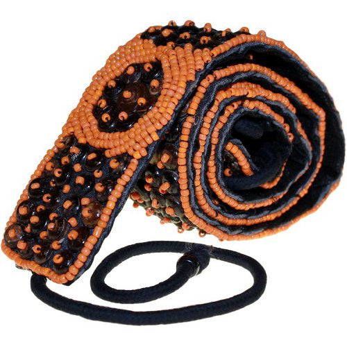 Surfer Vibe Beaded Belt - Orange - Shopy Max