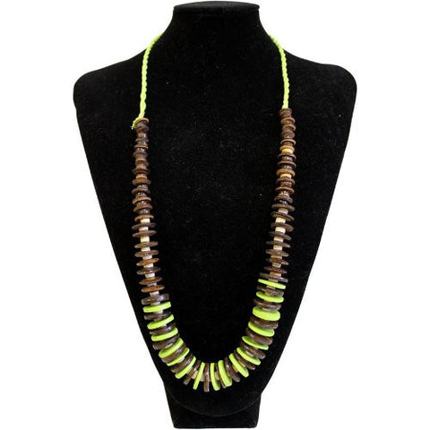 Coconut Necklace - Lime