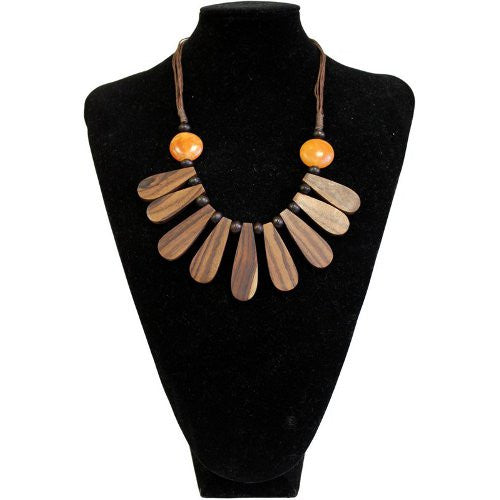 Wooden Drop Necklace