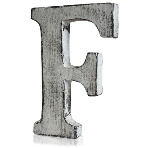Shabby Chic Letter - F - Shopy Max