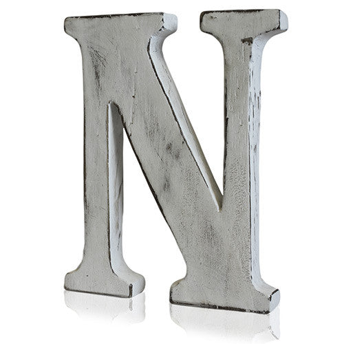 Shabby Chic Letter - N - Shopy Max