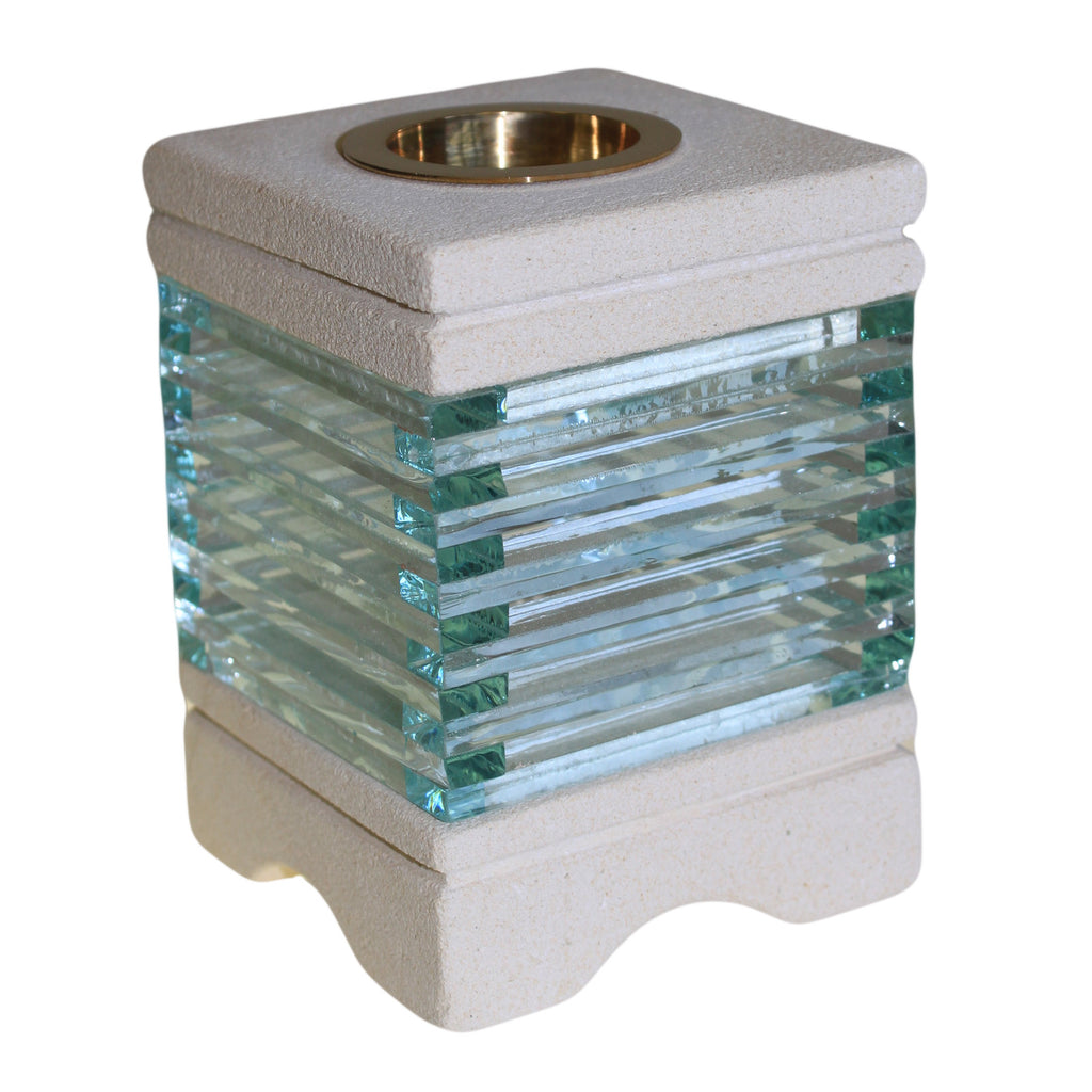 Stone Oil Burner - Square Glass Bricks - Shopy Max
