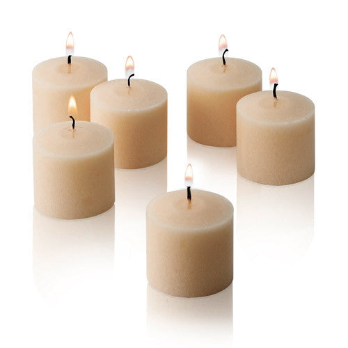 6x Scented Votive Candles - Vanilla - Shopy Max
