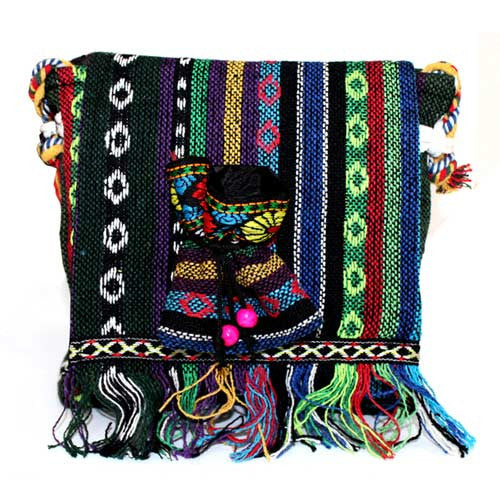 Tibetan Fringe Bag - Sml Over Flap & Pouch - Shopy Max