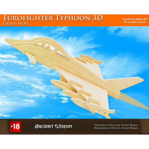 Euro Fighter Typhoon - 3D Wooden Puzzle - Shopy Max