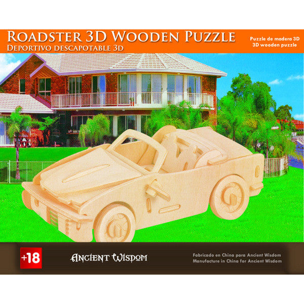 Roadster - 3D Wooden Puzzle - Shopy Max