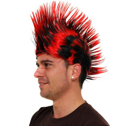 Black & Red Punky Wig
