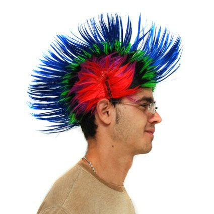 Multi-Coloured Punky Wig
