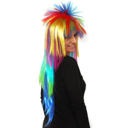 Multi-Coloured Spiky Wig