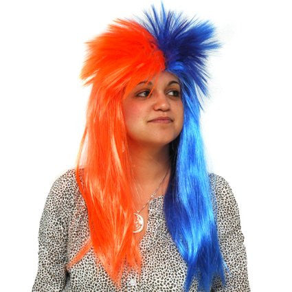 Blue & Orange Spiky Wig