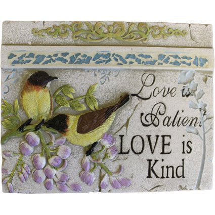 Wise Word Plaque Lrg - Love is Patient