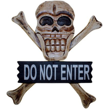 Skull & Bones Sign - Do Not Enter - Shopy Max