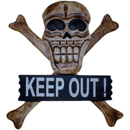 Skull & Bones Sign - Keep Out - Shopy Max