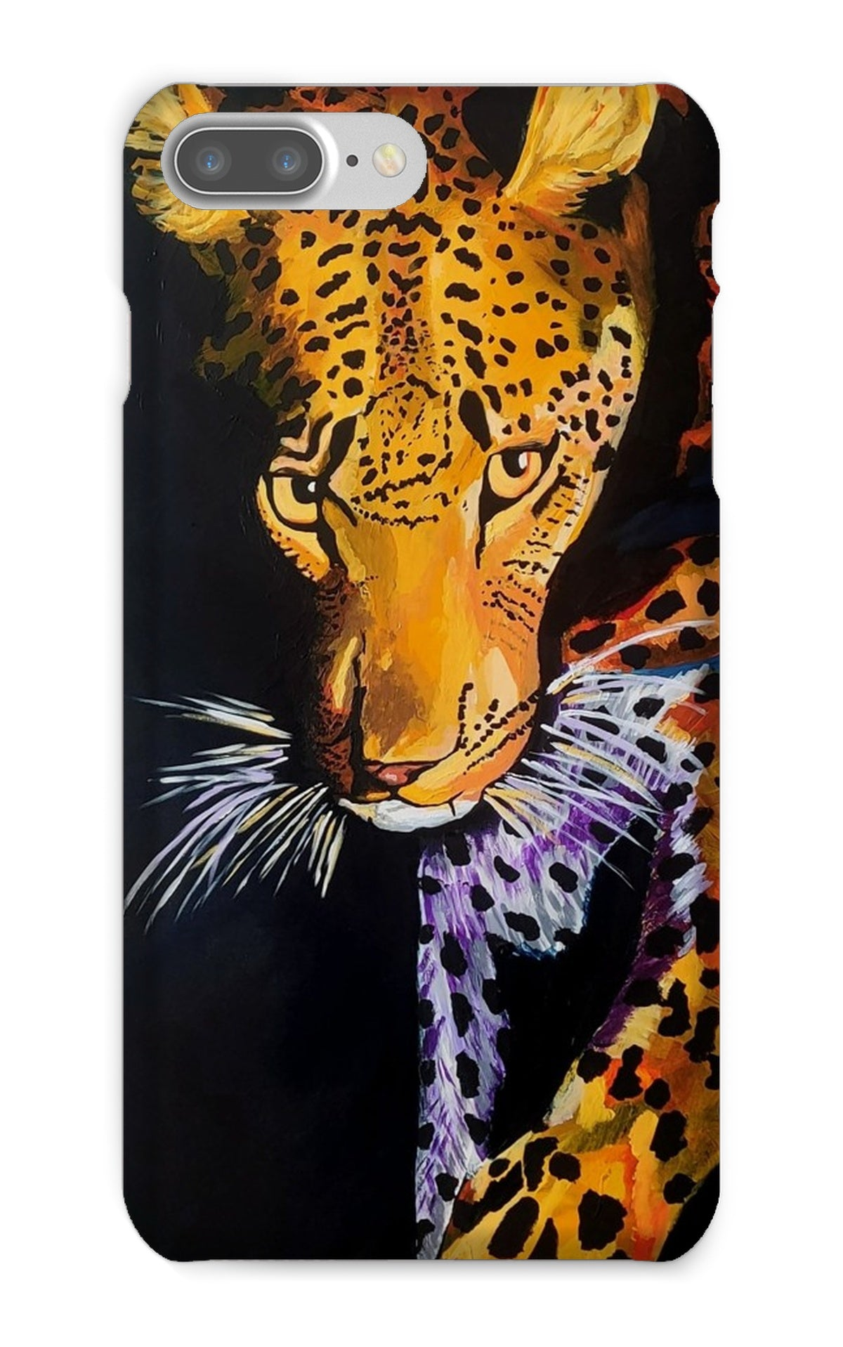 Leopard in Shadows Phone Case