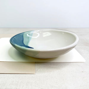Blue Round Trinket Tray