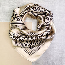 Load image into Gallery viewer, Ivory Leopard Print Multi Use Scarf