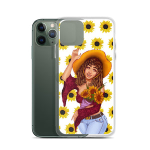 Sunflower Em iPhone Case - AlishDraws