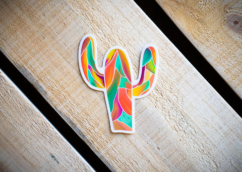 Sunset Saguaro Vinyl Sticker