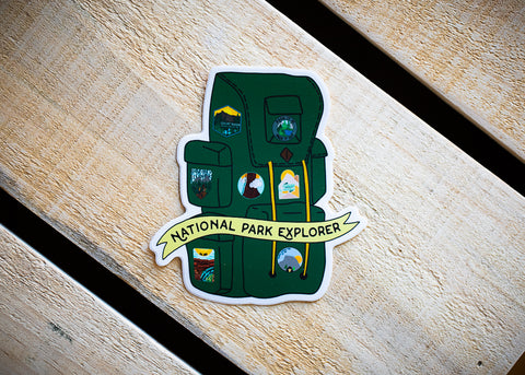 National Park Explorer Vinyl Sticker
