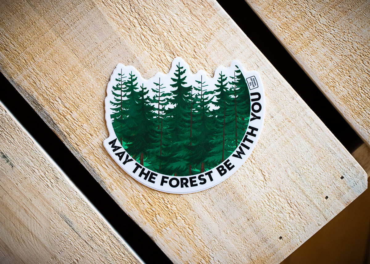 May The Forest Vinyl Sticker