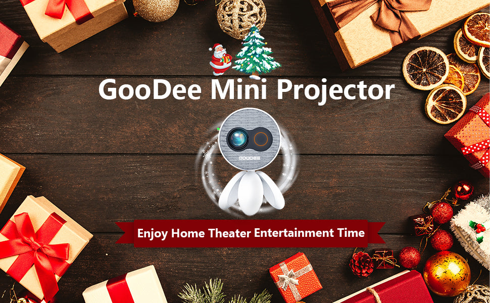 GooDee YG220 Portable Mini Projector, With tripod that rotates 360 degree LED Video Projector | GooDee
