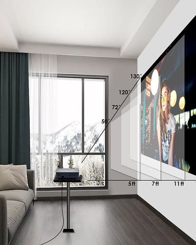 Get a high-gain projector screen