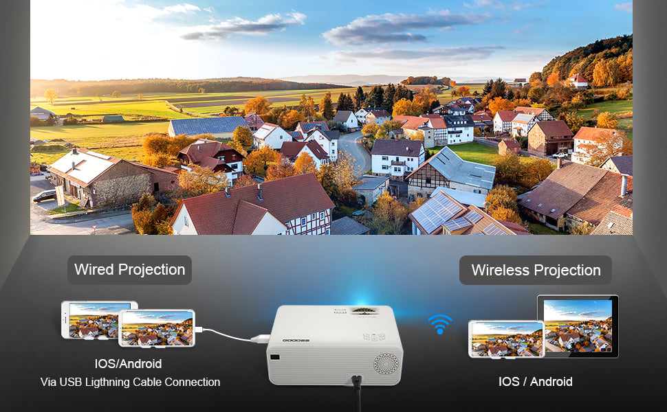 GooDee W80 Wireless Video Projector | GooDee
