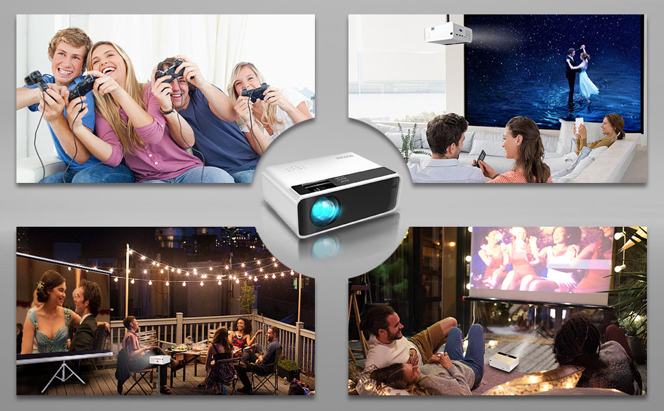 GooDee W80 Wireless Video Projector