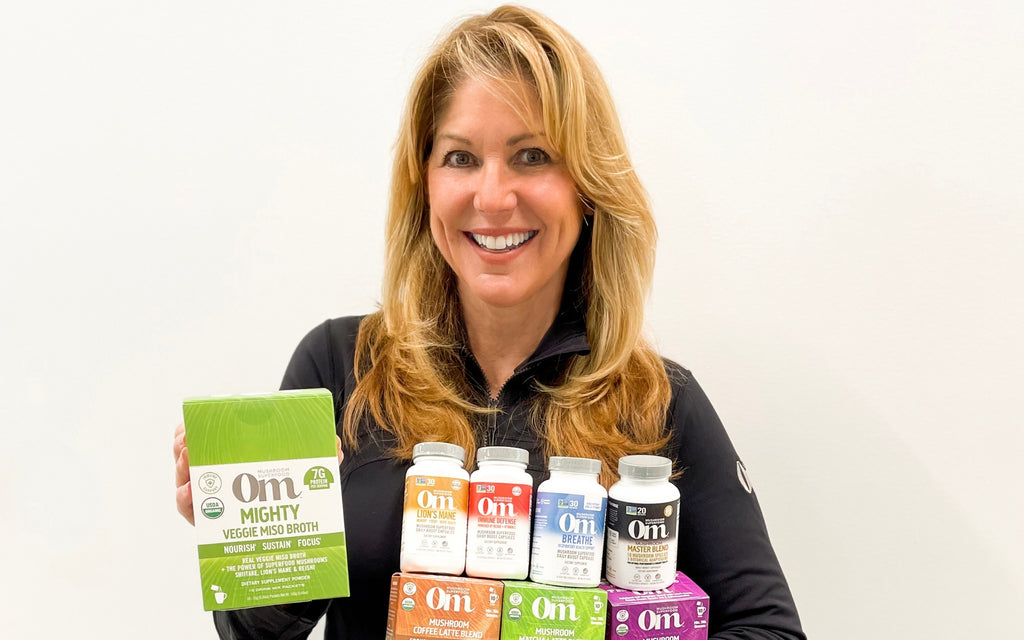 Sandra Carter with Om Mushrooms Products