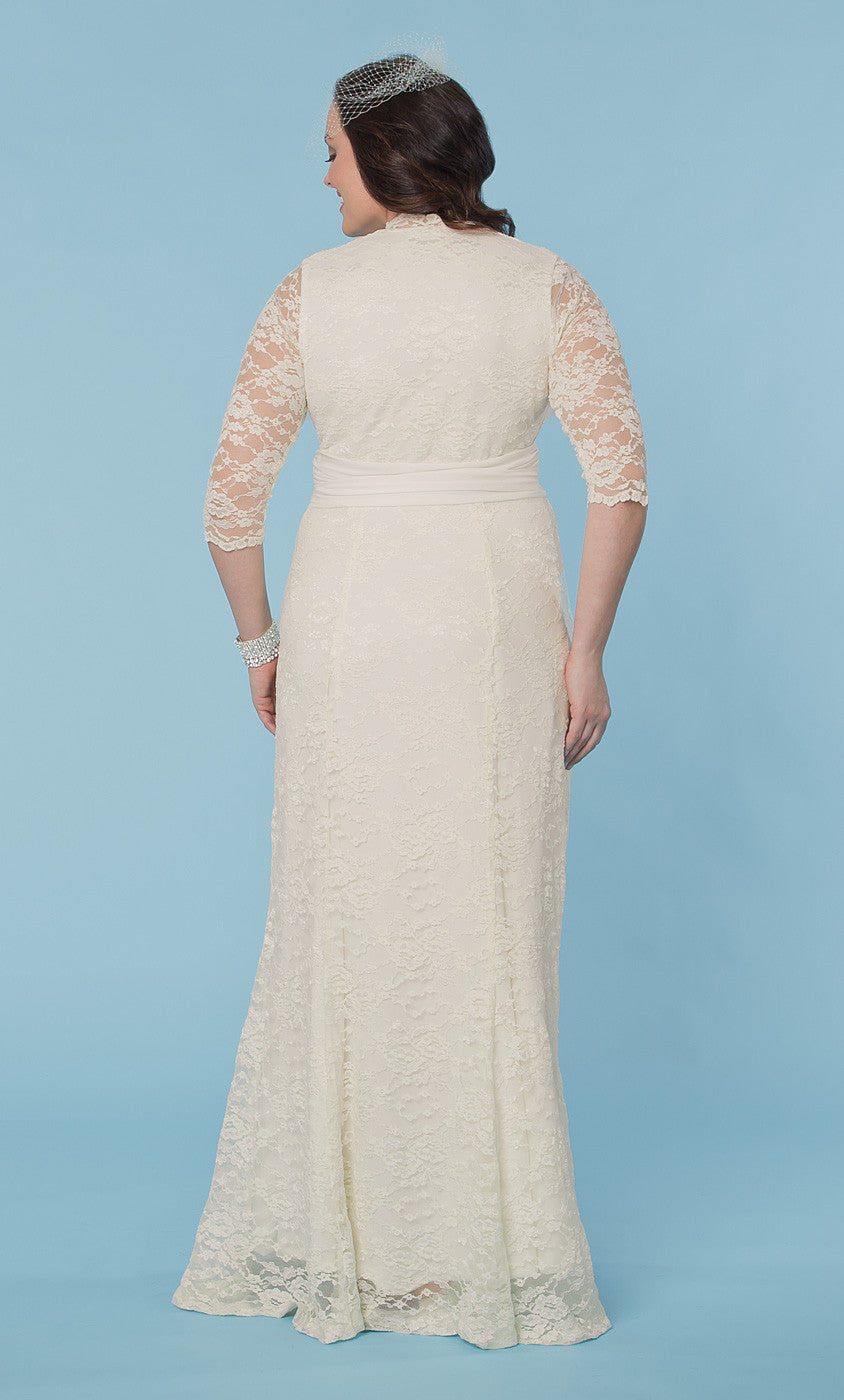 Amour Lace Wedding Gown # Plus-size ruha