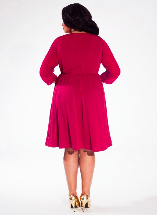 Soleil Dress In Mulberry # Plus-size ruha AKCIÓ