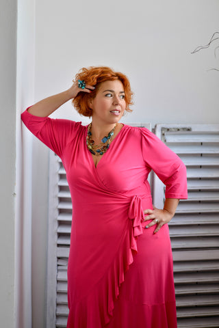 Whitney pink plus size dress