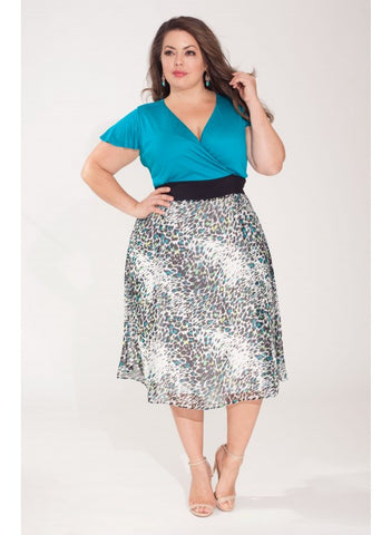 Jaclyn Dress in Jade # Plus-size ruha