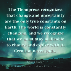 change is the only constant in this world, creation is never ending