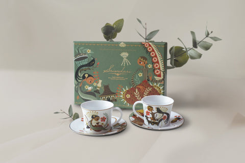 Sriwedari Brown Mugs, Cup & Soucer ( Hampers )