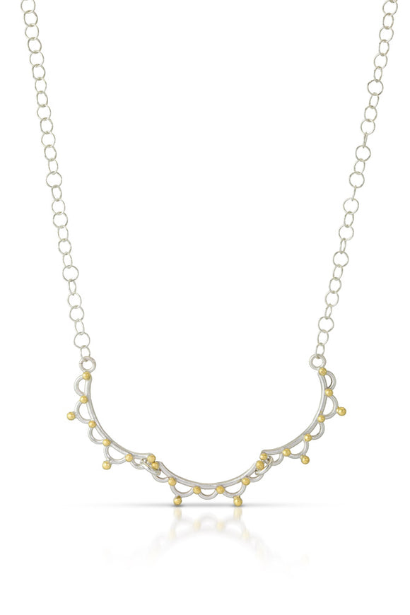 Triple Lace Bar Necklace