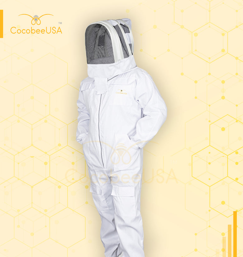Beekeeping Cotton Suit White Fencing Veil