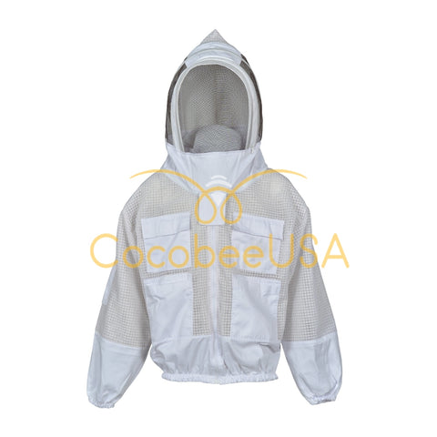 Ultra Ventilated 3 Layer Fencing Veil White Mesh Jacket