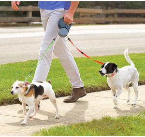 Dog Leash For Two -ABS Automatic Retractable Traction Rope